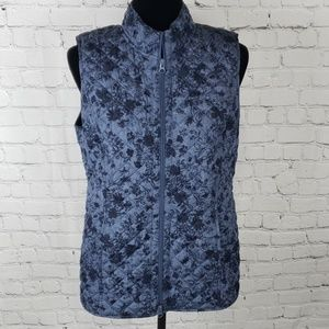 J.Jill Quilted Paisley Zipper Up Vest